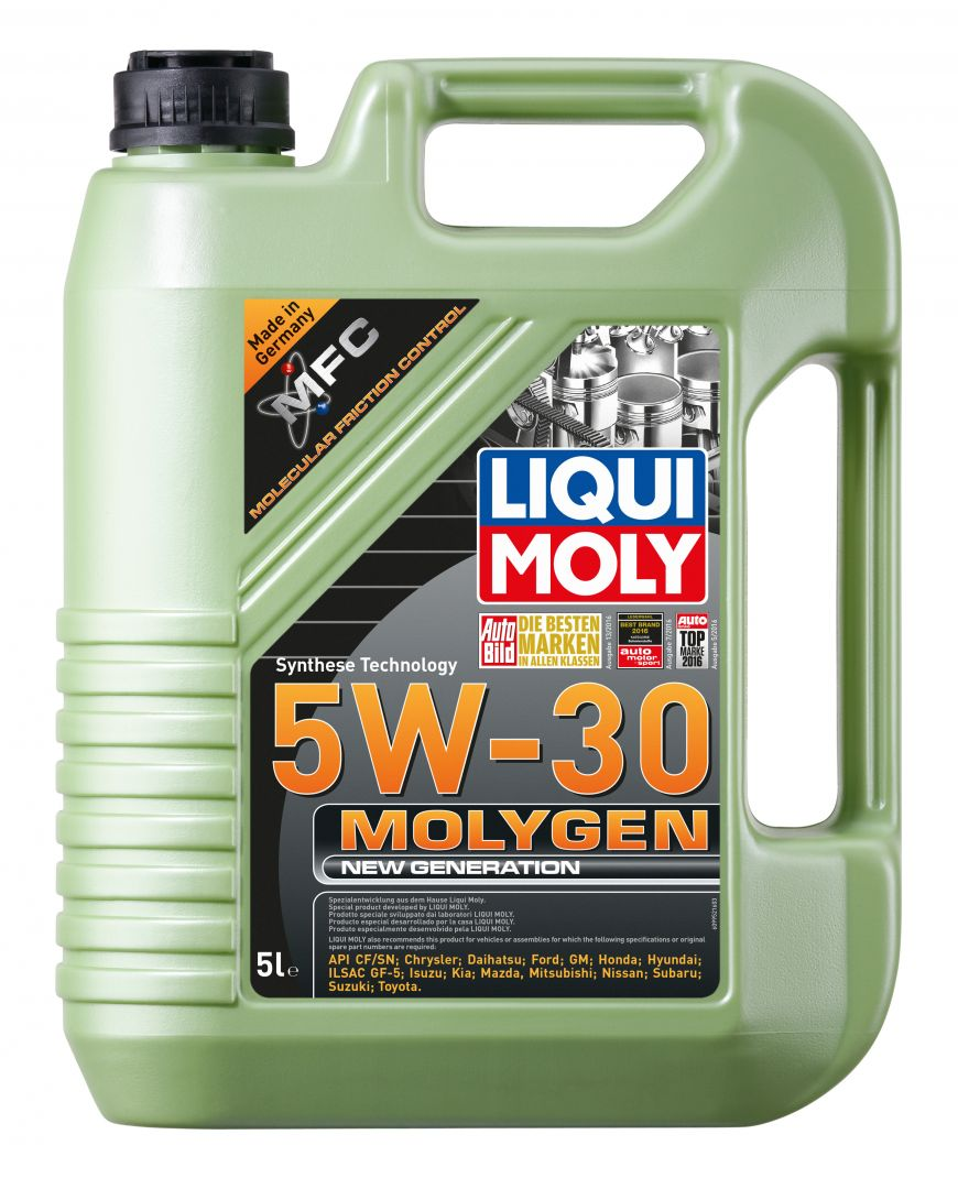 Масло моторное 5w30 SN Liqui Moly Molygen New Generation 5л (синтетика) 9043